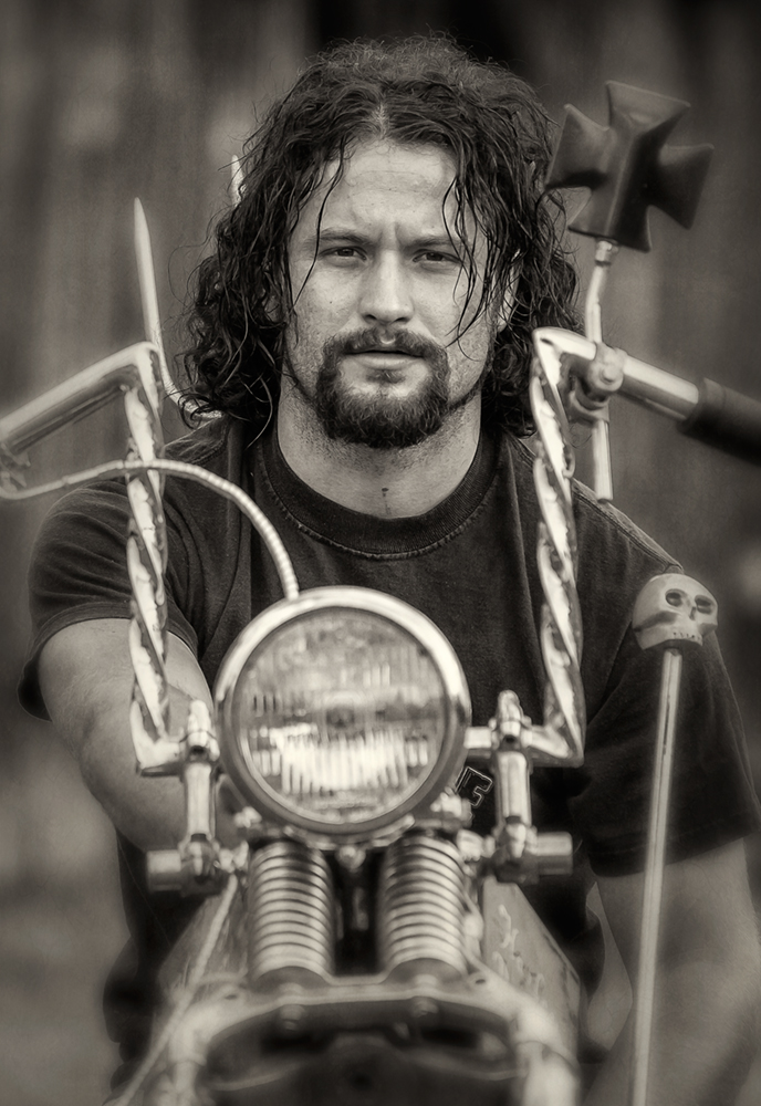 biker portrait_bw