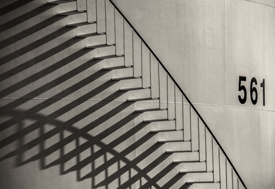 tank_stairway shadows_bw