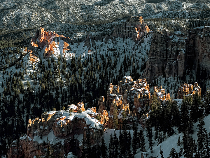 snow in bryce canyon