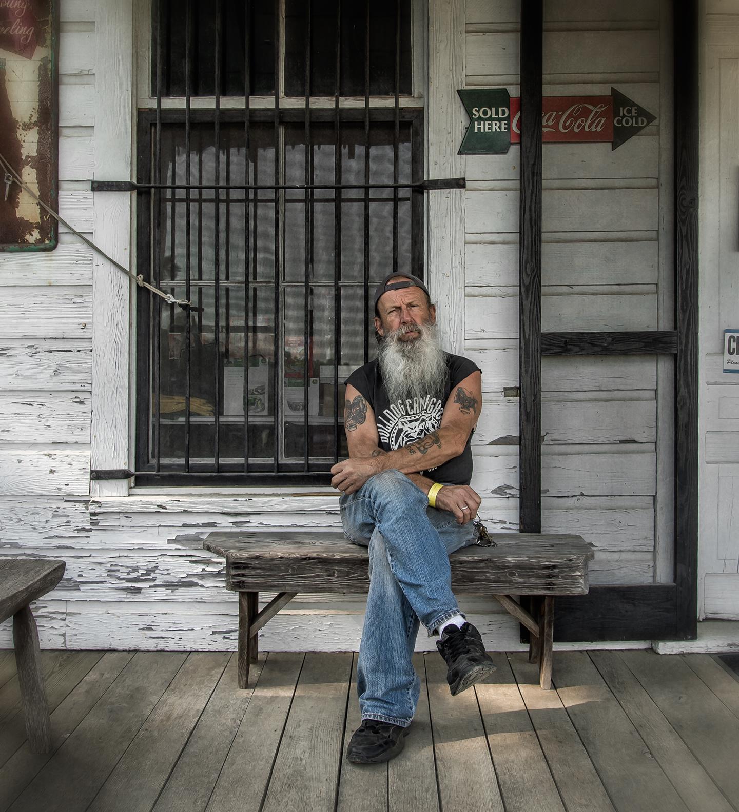 denton_man on porch